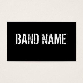 Custom Band Business Card