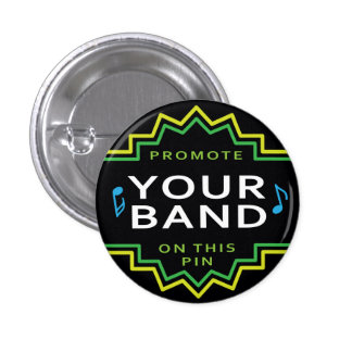 Custom Band Logo Flair Button Pin - Small