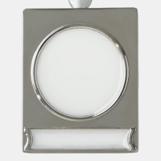 Custom Banner Ornament - Silver Plated Silver Plated Banner Ornament