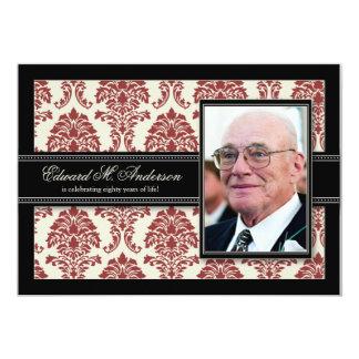 ::custom_barbara 80th birthday invite_v2 (flat) 13 cm x 18 cm invitation card