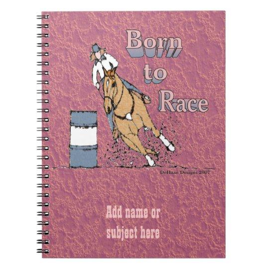 Custom Barrel Racing Notebook
