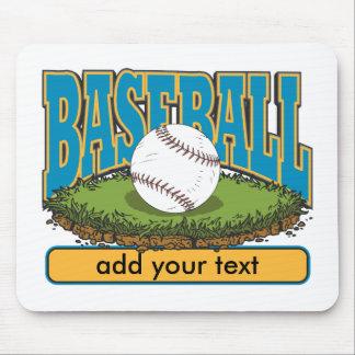 Custom Baseball Add Text Mousepads
