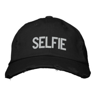 Custom Baseball Cap-SELFIE Embroidered Baseball Cap