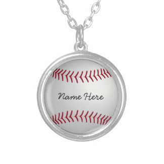Custom Baseball Chram Necklace Add Your Name