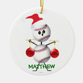 Custom Baseball Christmas Christmas Ornament