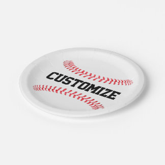 Custom Baseball Party or Banquet Paper Plates