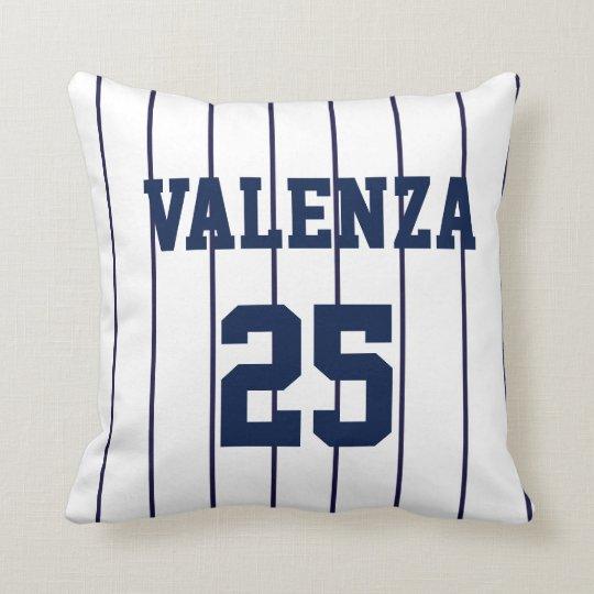 Custom Baseball Pinstripe Uniform Jersey Pillow