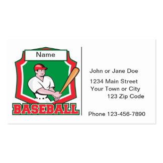 Custom Baseball Player Business Card