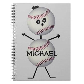 Custom Baseball Player Notebooks