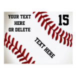Custom Baseball Postcards with 4 Text Boxes