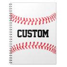 Custom Baseball Stitches Notebook