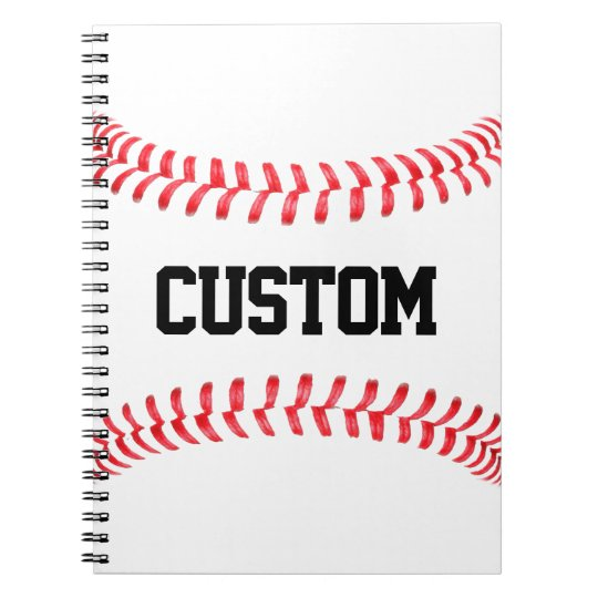 Custom Baseball Stitches Notebook