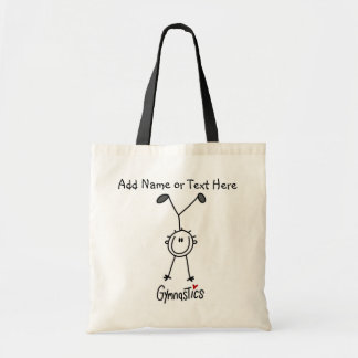 Custom Basic Stick Figure Gymnast Tote  Bag
