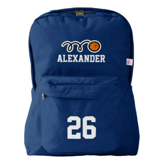 Custom basketbal jersey number backpack for kids