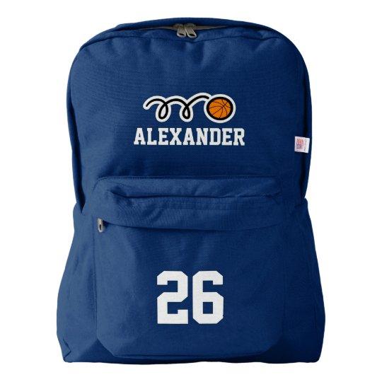 Custom basketbal jersey number backpack for kids