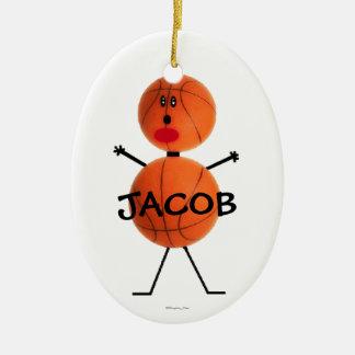 Custom Basketball Cartoon Christmas Ornament