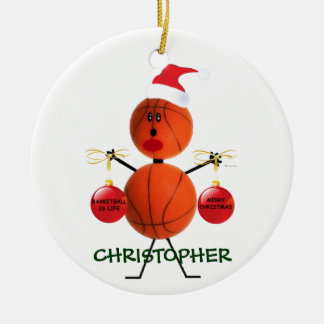 Custom Basketball Christmas Christmas Ornament