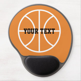 Custom basketball gel mouse pad for coach & player