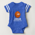Custom Basketball Player & Team Name Jersey # Year Baby Bodysuit
