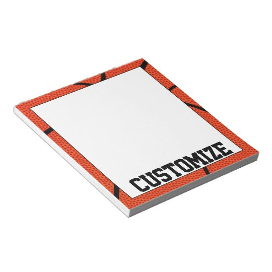 Custom Basketball Team Name Notepad for Coaches