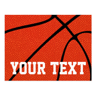 Custom Basketball Team Name or Text Postcard