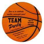 Custom Basketball Team Party 13 Cm X 13 Cm Square Invitation Card