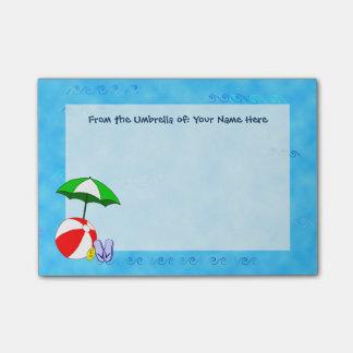 Custom Beach Ball Pool Umbrella Post it Notes