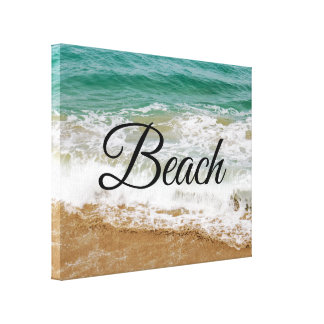 Custom Beach Close-Up Canvas Print