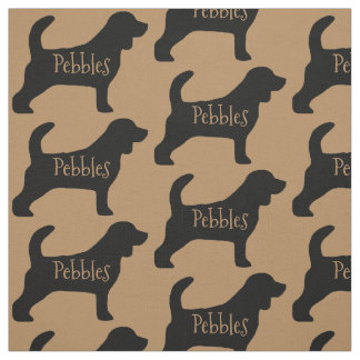 Custom Beagle Dog Fabric