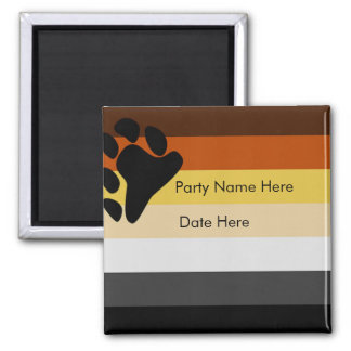Custom Bear Pride Party Favors Square Magnet