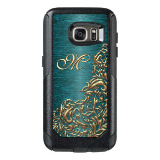 Custom Beautiful Chic Baroque Floral Swirl Pattern OtterBox Samsung Galaxy S7 Case
