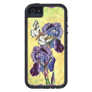 Custom Beautiful Purple Iris Flowers Butterfly iPhone 5 Covers