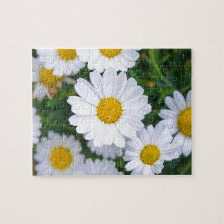 Custom Beautiful Spring Flowers - Daisy Jigsaw Puzzle