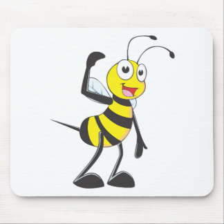 """Custom Bee in """"Come Here"""" Hand Gesture Mouse Pad"""