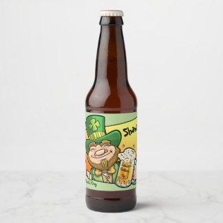 Custom Beer Bottle Label St. Patrick's Day Saint