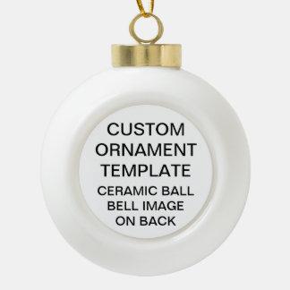 Custom BELL Ball Christmas Ornament Blank Template