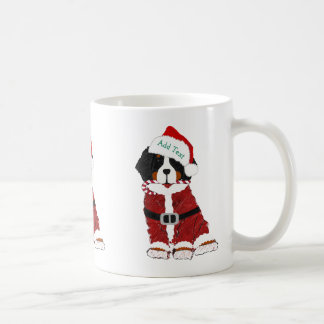 Custom Bernese Mountain Dog Santa Paws Coffee Mug