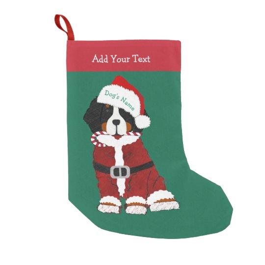 Custom Bernese Mountain Dog Santa Paws Small Christmas