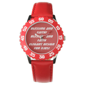 custom bezel with red numbers wristwatch