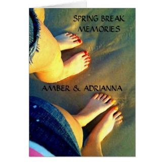 Custom BFF Spring Break Memories Card