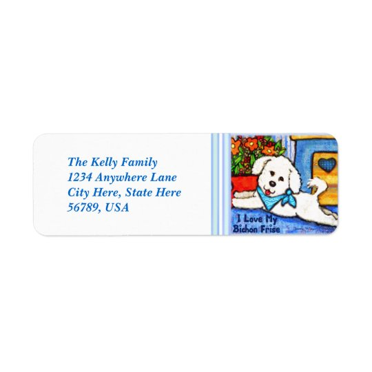 Custom  Bichon Frise Dog Return Address Labels