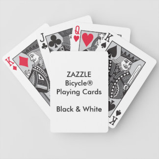 Custom Bicycle® Black & White Playing Cards