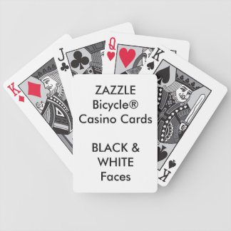 Custom Bicycle® Casino Playing Cards BLACK & WHITE