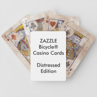 Custom Bicycle® Casino Playing Cards DISTRESSED