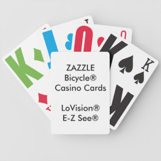 Custom Bicycle® Casino Playing Cards LoVision®