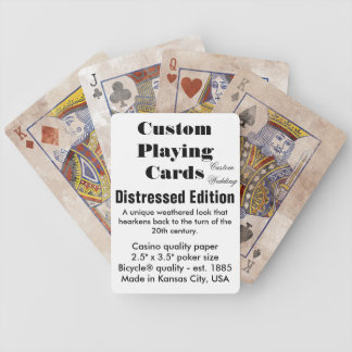 Custom Bicycle® Playing Cards - Distressed Edition Bicycle Playing Cards