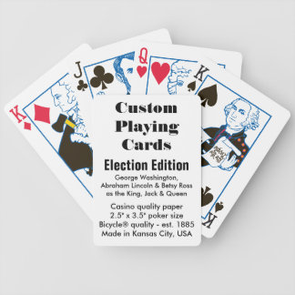 Custom Bicycle® Playing Cards - Election Edition Bicycle Playing Cards