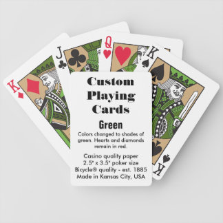 Custom Bicycle® Playing Cards - Green Bicycle Playing Cards
