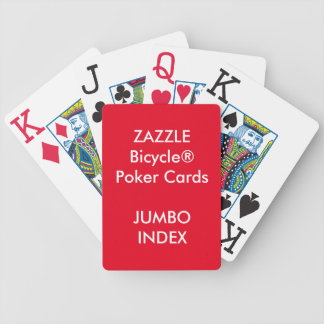 Custom Bicycle® Poker Playing Cards JUMBO INDEX