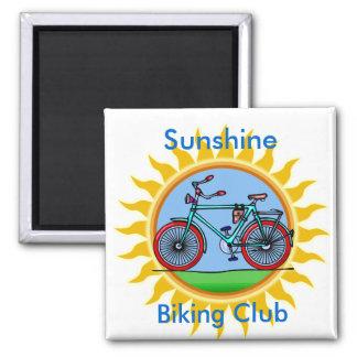 Custom Bicycling Club Logo Wear Square Magnet